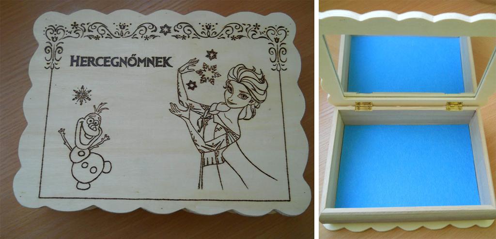 Jégvarázs, Elza, Olaf, tükör, kék szőnyeg