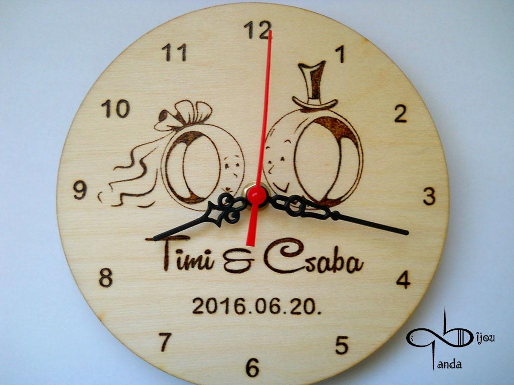 gyűrűs nászajándék óra