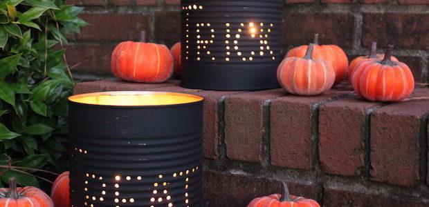 Halloween lámpás konzervdobozból házilag