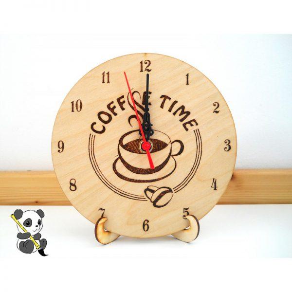 Asztali óra tartó állvány fából
